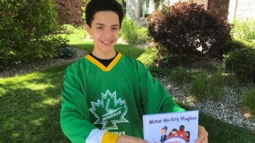 Windsor player publishes book about 'the lighter side of minor hockey'