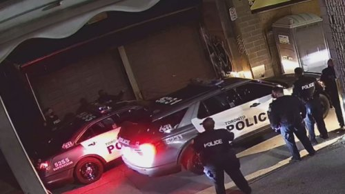 Video emerges showing moment police arrive to bust illegal 150-person party in Toronto