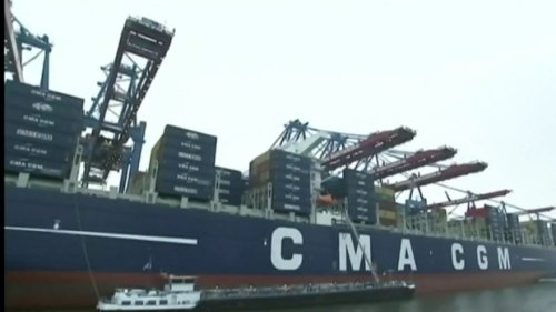 Giant container ship Marco Polo headed for Halifax