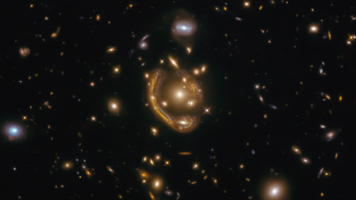 Nicknamed the 'Molten Ring,' this deep-space phenomenon is 9.4 billion light-years away