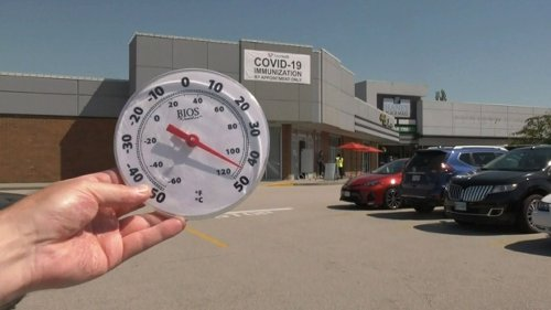 Vaccine site change in Abbotsford leaves people waiting outside in 40-degree heat for shots