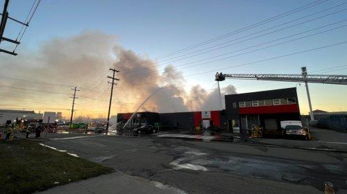 $9M in damage after east Edmonton fire engulfs building