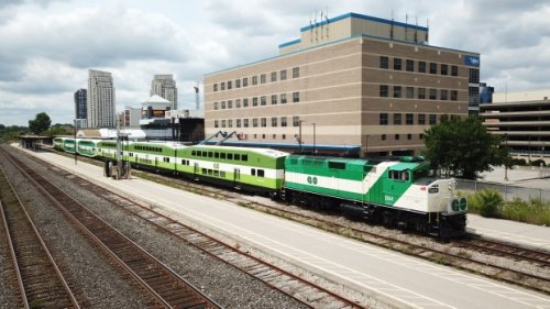 GO Transit train spotted in downtown London, Ont. Saturday