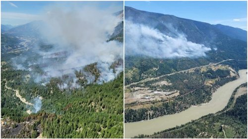 Raging wildfire prompts evacuation alert issued south of Lytton, B.C.