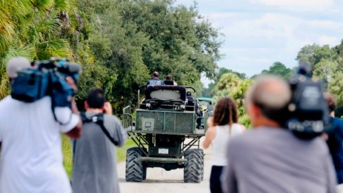 Search for Brian Laundrie continues as authorities comb through swampland