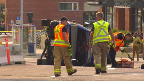 'Oh no, she's trying to get into the car': Video shows truck theft before Jasper Avenue crashes