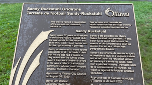 Sandy Ruckstuhl Gridirons recognizes dedication to youth football