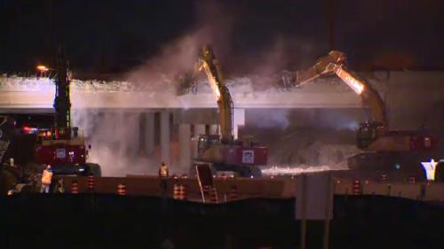 Hwy. 401 reopened as demolition of Hespeler Road bridge complete
