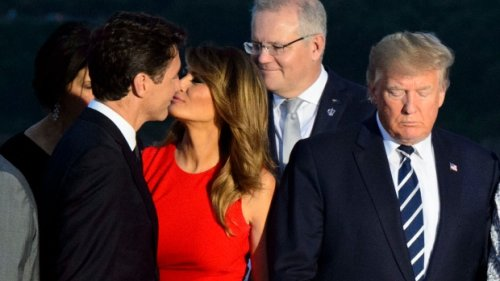 Melania and Trudeau cheek-kiss gets meme treatment