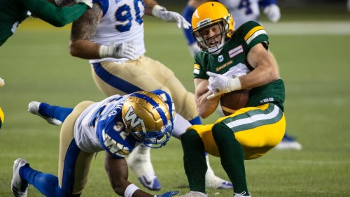 Blue Bombers become first CFL team to earn playoff spot with 26-16 victory over Elks