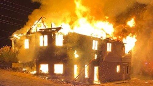 Wasaga Beach Fire Department sets former Chamber of Commerce ablaze