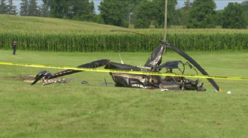 Helicopter crash causes road closures in Brantford