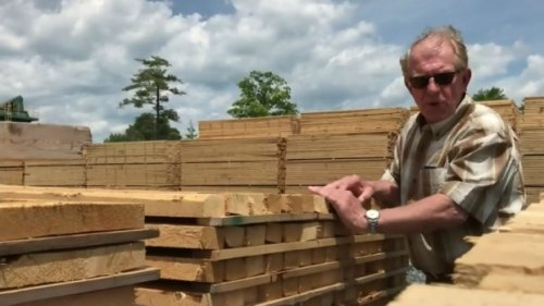 Lumber prices starting to come back down to earth