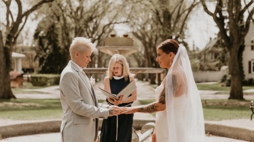 Edmonton Olympian and musician married by Rachel Notley