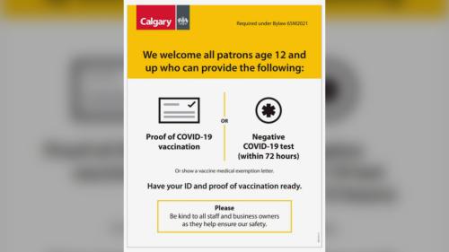 Vaccine enforcement begins in Calgary as doctors renew calls for targeted measures