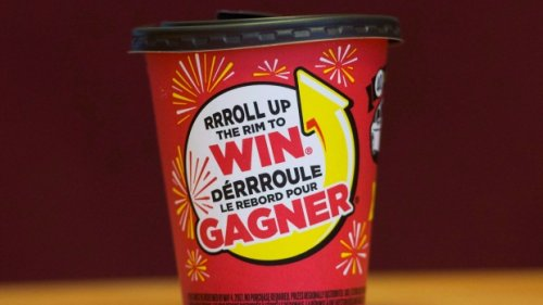 How does the new Tim Hortons' 'Roll Up The Rim' contest work?