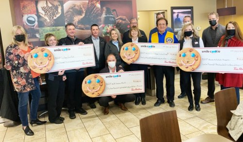 Smile cookies raise money for the community