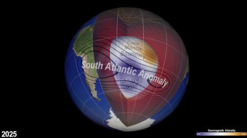 NASA scientists say a magnetic anomaly above our planet is going to split in half