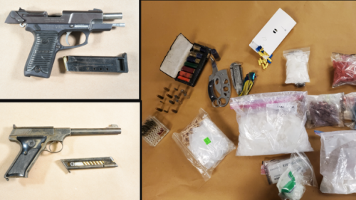 Pair facing a combined 37 charges after guns and more than $350K in drugs seized