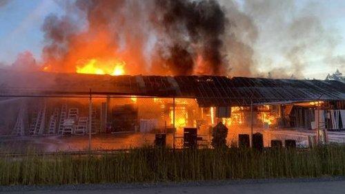 No injuries reported as investigators probe site of Salt Spring Island lumberyard blaze
