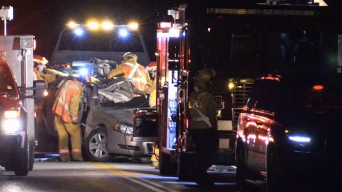 Woman killed in crash between car and train in Severn Twp.