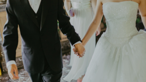 At this wedding, the bride and groom were the crashers