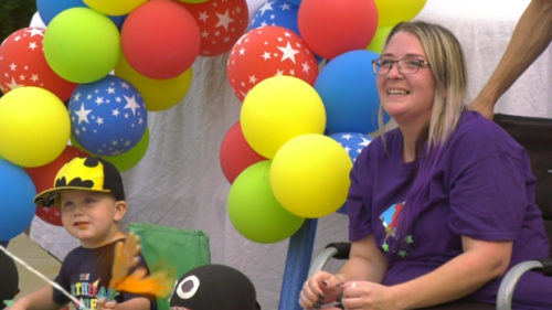 'Thank you so much': Toddler battling cancer receives parade of birthday wishes