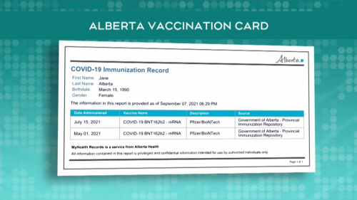 Delayed vaccine status cards: What Albertans need to know