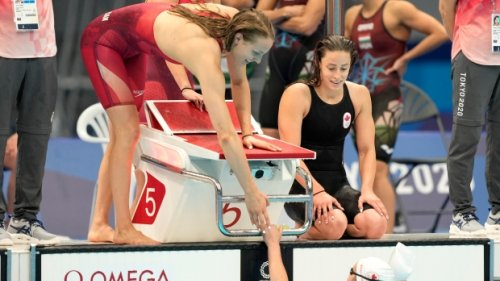 Canada comes fourth in women's 4x200m freestyle relay