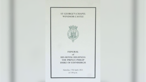 The Order of Service for the funeral of Prince Philip, Duke of Edinburgh, in full