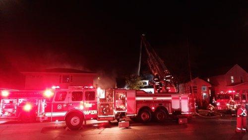 Fire crews battling blaze along Nairn Avenue