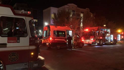 2 taken to hospital after separate early morning fires