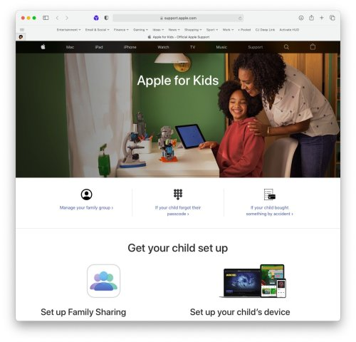 'Apple for Kids' makes it easy for parents, guardians to manage devices