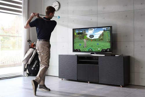 Practice your golf swing all year with this at-home golf simulator   Cult of Mac