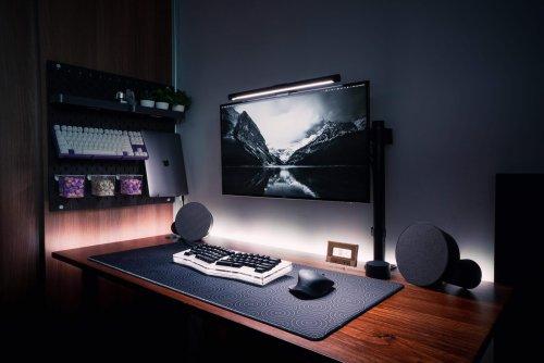 'Mostly monochrome' rig focuses on innovative storage, nice lighting, cool keyboards [Setups]   Cult of Mac
