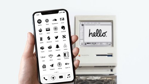 Go old-school with iPhone icons inspired by 1984 Macintosh