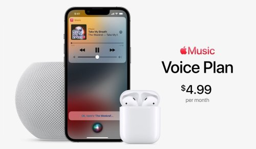 Apple Music gets a 'Voice Plan' that's just $4.99 a month