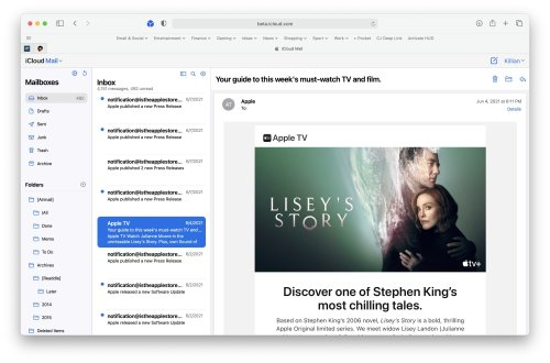 iCloud Mail is getting a shiny new interface for the web   Cult of Mac