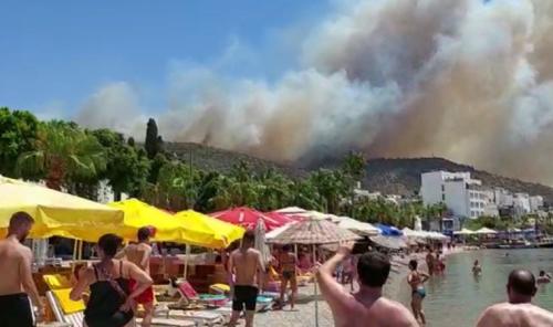 Son dakika... Bodrum'da yangın büyüdü; anonslar yapılıyor
