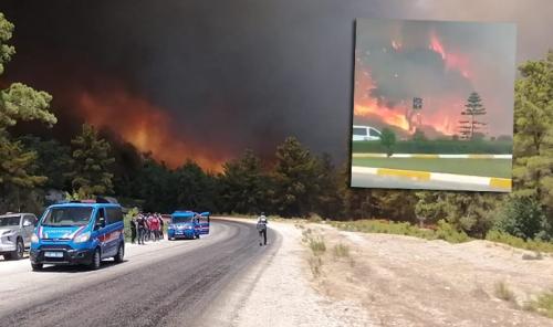 Manavgat'ta 4 ayrı noktada orman yangını