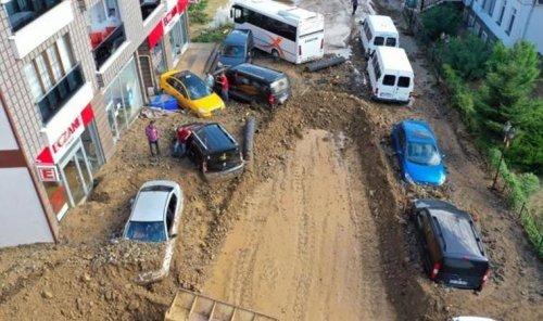 Rize'de sel riski altında 665 yapı tespit edildi