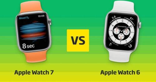 Apple Watch 7 vs. Apple Watch 6 im Vergleich: Die Unterschiede ⊂·⊃ CURVED.de