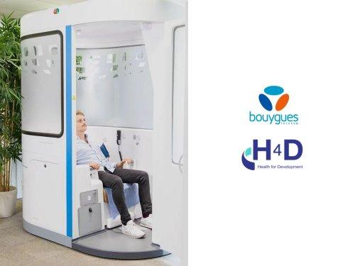Bouygues Telecom et H4D présentent une cabine connectée en 5G pour la télémédecine