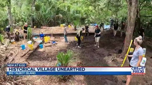 UNF archaeology students unearth artifacts from almost 500-year-old Native American village