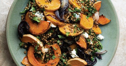 Yotam Ottolenghi's Roasted Butternut Squash with Lentils and Gorgonzola