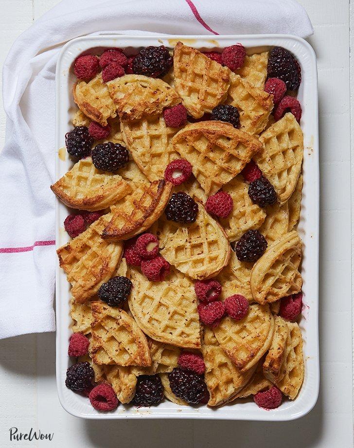 Waffle Bread Pudding