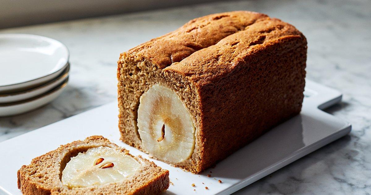 Apple-Cider Pear Spelt Cake