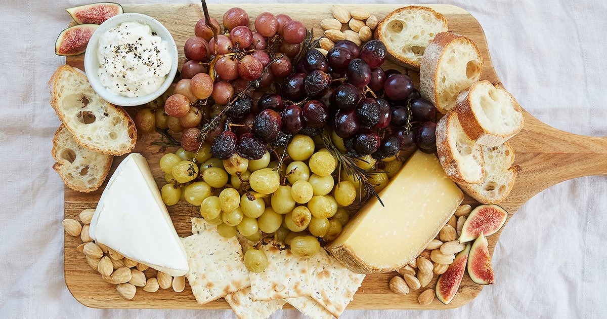 Ultimate Cheese Plate with Roasted Grapes