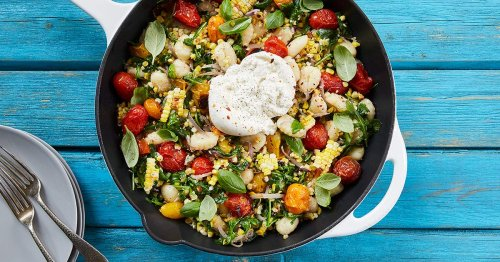 Summer Skillet Gnocchi with Grilled Corn and Burrata
