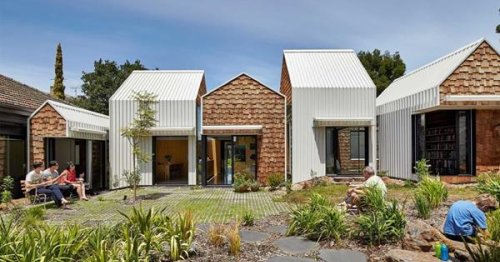 A sustainable renovation and extension that looks like a village